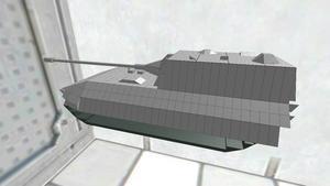 お気軽戦車胴体Jp-E100主砲履帯付き