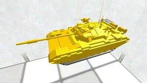 T-90無料モデル、100回DL突破記念車両黄金T-90
