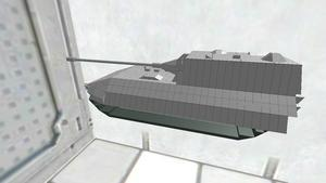 お気軽戦車胴体Jp-E100履帯主砲付き